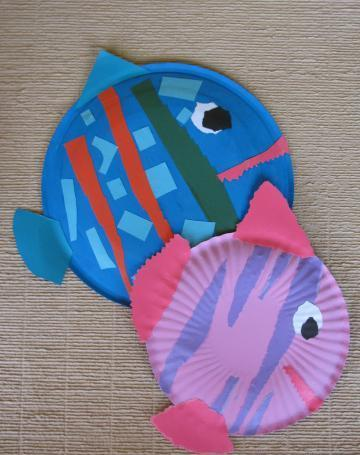 Как сделать поделку из рыбок